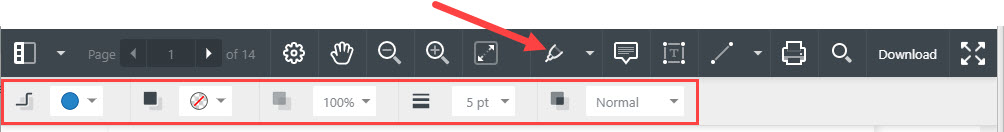 Annotations detail toolbar