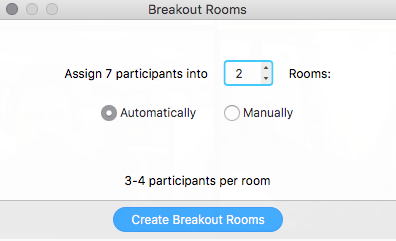 Breakout Room Options