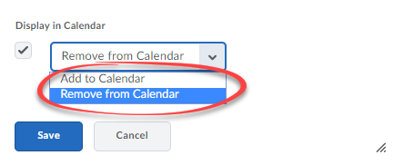 Bulk edit calendar options.