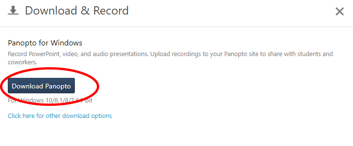 Download Panopto button