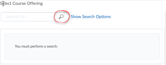 image of search box with search icon circled