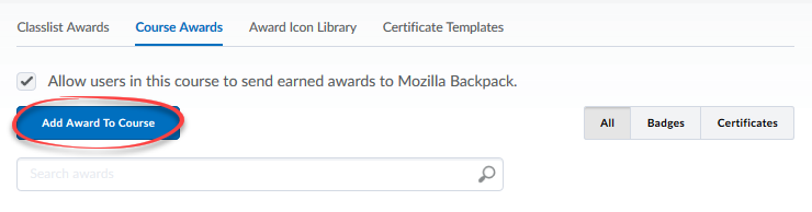 instructor awards d2l help pages