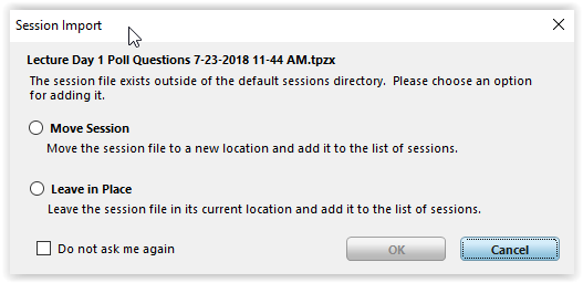 Move Session File or Leave in Place