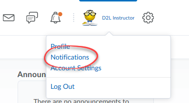 image olf personal menu drop down with notifications circled