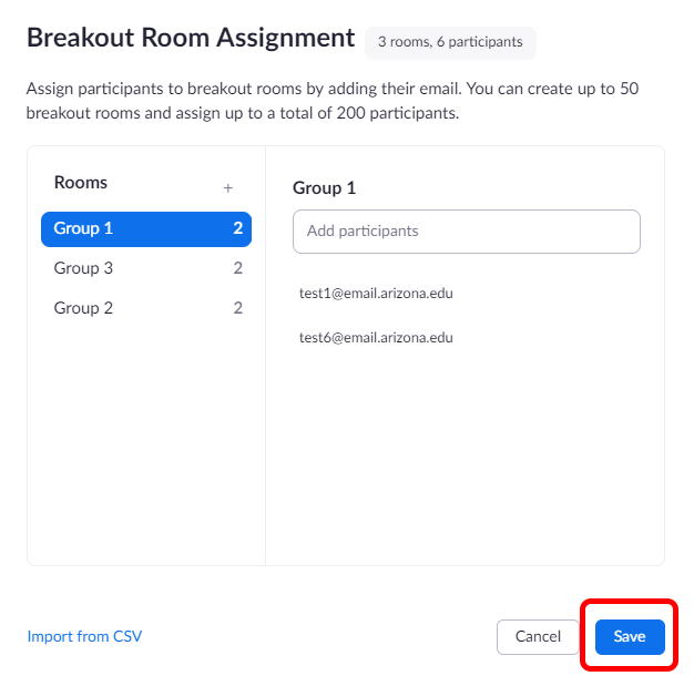 Save Breakout Room Button