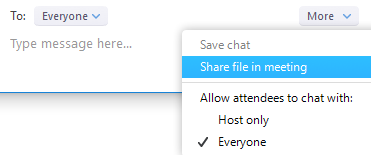 Share File in Chat