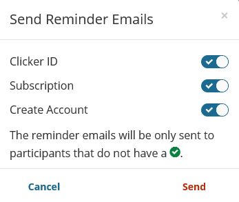 TP8 Reminder Email Options