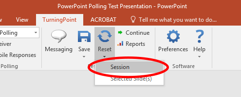 TP8 Reset Polling Session