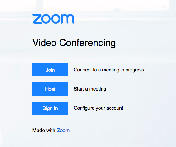 Zoom Single Sign On Screen