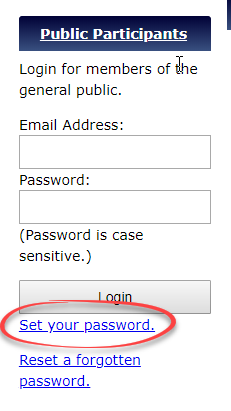 Click Set Password Link